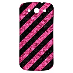 Stripes3 Black Marble & Pink Marble Samsung Galaxy S3 S Iii Classic Hardshell Back Case by trendistuff
