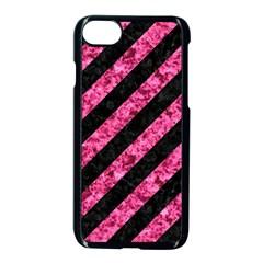 Stripes3 Black Marble & Pink Marble Apple Iphone 7 Seamless Case (black) by trendistuff