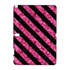 Stripes3 Black Marble & Pink Marble (r) Samsung Galaxy Note 10 1 (p600) Hardshell Case by trendistuff