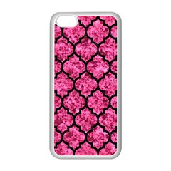 Tile1 Black Marble & Pink Marble (r) Apple Iphone 5c Seamless Case (white) by trendistuff