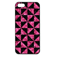 Triangle1 Black Marble & Pink Marble Apple Iphone 5 Seamless Case (black) by trendistuff