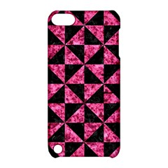 Triangle1 Black Marble & Pink Marble Apple Ipod Touch 5 Hardshell Case With Stand by trendistuff