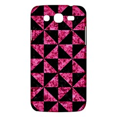 Triangle1 Black Marble & Pink Marble Samsung Galaxy Mega 5 8 I9152 Hardshell Case  by trendistuff