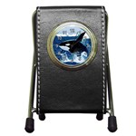 Emerging_ Killer Whale Pen Holder Desk Clock