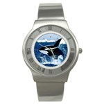Emerging_ Killer Whale Stainless Steel Watch
