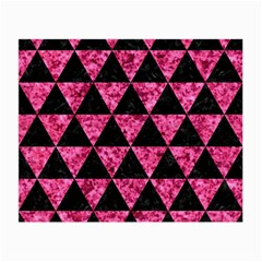 Triangle3 Black Marble & Pink Marble Small Glasses Cloth by trendistuff