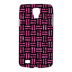 Woven1 Black Marble & Pink Marble Samsung Galaxy S4 Active (i9295) Hardshell Case by trendistuff