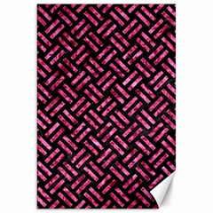 Woven2 Black Marble & Pink Marble Canvas 20  X 30  by trendistuff