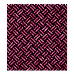 Woven2 Black Marble & Pink Marble Shower Curtain 66  X 72  (large) by trendistuff