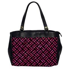 Woven2 Black Marble & Pink Marble Oversize Office Handbag by trendistuff