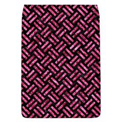 Woven2 Black Marble & Pink Marble Removable Flap Cover (l) by trendistuff