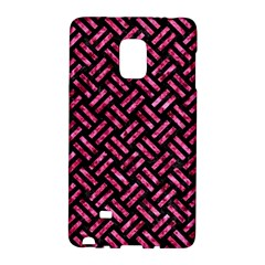 Woven2 Black Marble & Pink Marble Samsung Galaxy Note Edge Hardshell Case by trendistuff