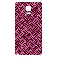 Woven2 Black Marble & Pink Marble (r) Samsung Note 4 Hardshell Back Case by trendistuff