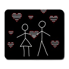 Couple In Love Large Mousepads by Valentinaart