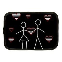 Couple In Love Netbook Case (medium)  by Valentinaart