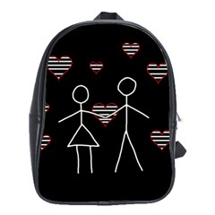 Couple In Love School Bags(large)  by Valentinaart