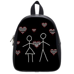 Couple In Love School Bags (small)  by Valentinaart