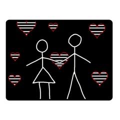 Couple In Love Fleece Blanket (small) by Valentinaart