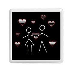 Couple In Love Memory Card Reader (square)  by Valentinaart