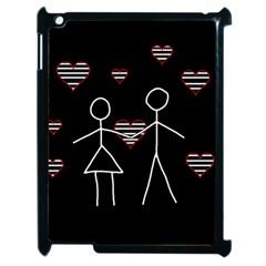 Couple In Love Apple Ipad 2 Case (black) by Valentinaart