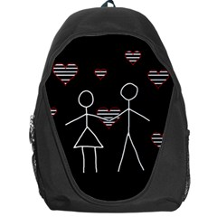 Couple In Love Backpack Bag by Valentinaart