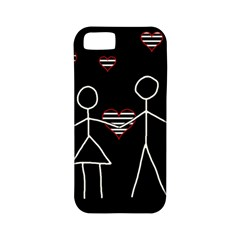 Couple In Love Apple Iphone 5 Classic Hardshell Case (pc+silicone) by Valentinaart