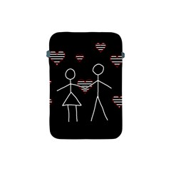 Couple In Love Apple Ipad Mini Protective Soft Cases by Valentinaart