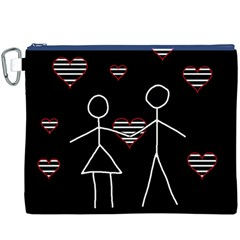 Couple In Love Canvas Cosmetic Bag (xxxl) by Valentinaart