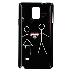Couple in love Samsung Galaxy Note 4 Case (Black) by Valentinaart