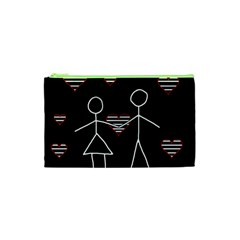 Couple In Love Cosmetic Bag (xs) by Valentinaart