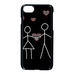 Couple In Love Apple Iphone 7 Seamless Case (black) by Valentinaart