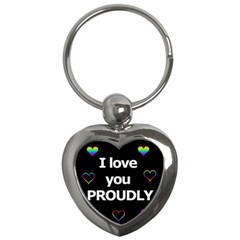 Proudly Love Key Chains (heart)  by Valentinaart