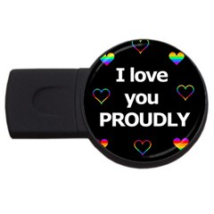 Proudly Love Usb Flash Drive Round (2 Gb)  by Valentinaart