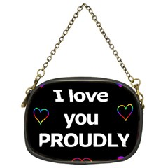 Proudly Love Chain Purses (one Side)  by Valentinaart