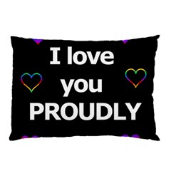 Proudly Love Pillow Case by Valentinaart