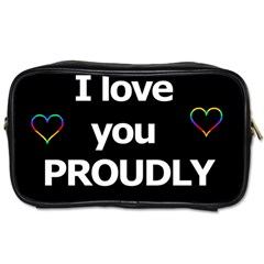 Proudly Love Toiletries Bags by Valentinaart