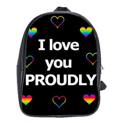 Proudly Love School Bags (xl)  by Valentinaart