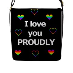Proudly Love Flap Messenger Bag (l)  by Valentinaart