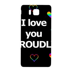 Proudly Love Samsung Galaxy Alpha Hardshell Back Case by Valentinaart