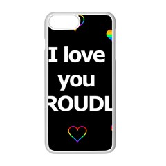 Proudly Love Apple Iphone 7 Plus White Seamless Case by Valentinaart