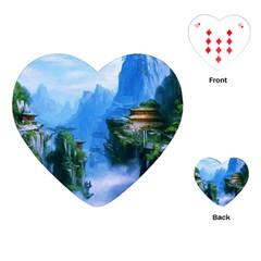 Fantasy Nature Playing Cards (heart)  by Brittlevirginclothing