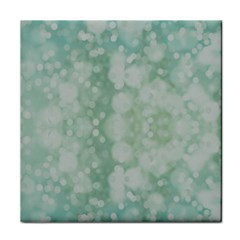 Light Circles, Mint Green Color Tile Coasters by picsaspassion
