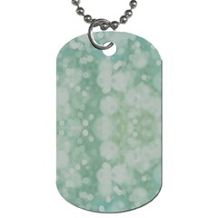 Light Circles, Mint Green Color Dog Tag (two Sides) by picsaspassion