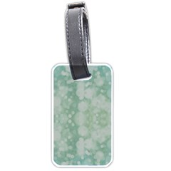Light Circles, Mint Green Color Luggage Tags (one Side)  by picsaspassion