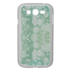 Light Circles, Mint Green Color Samsung Galaxy Grand Duos I9082 Case (white) by picsaspassion