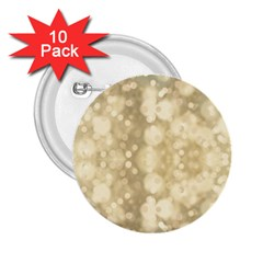 Light Circles, Brown Yellow Color 2 25  Buttons (10 Pack)  by picsaspassion