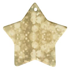 Light Circles, Brown Yellow Color Star Ornament (two Sides)  by picsaspassion
