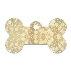 Light Circles, Brown Yellow Color Dog Tag Bone (one Side) by picsaspassion