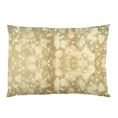 Light Circles, Brown Yellow Color Pillow Case by picsaspassion