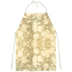 Light Circles, Brown Yellow Color Full Print Aprons by picsaspassion